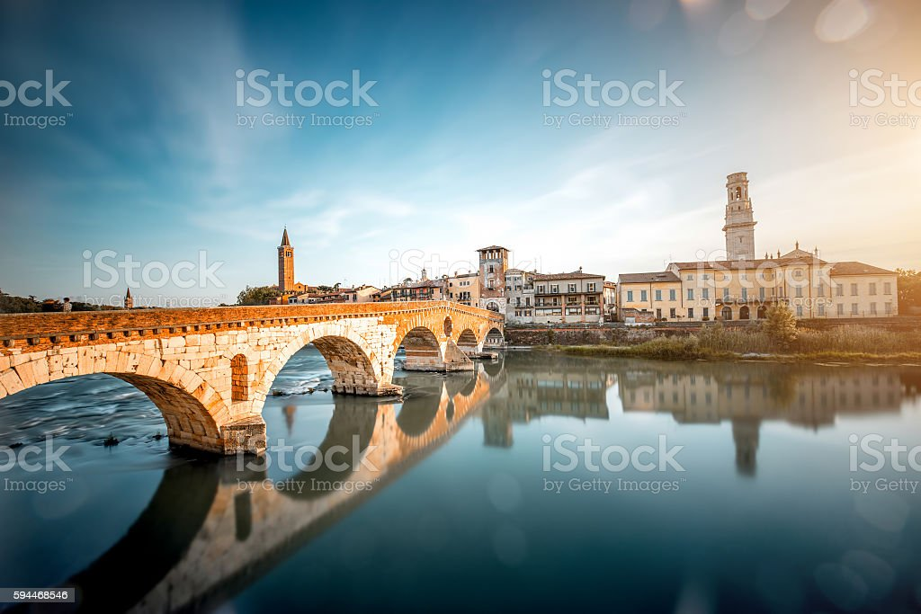 Verona cityscape view stock photo