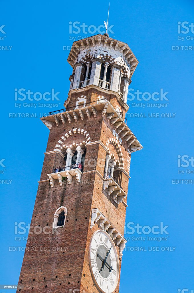 Verona Clock Tower stock photo
