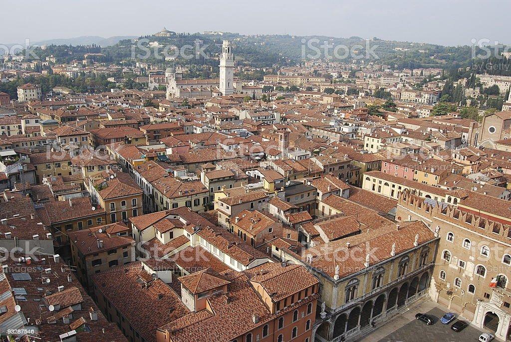 Verona from above royalty-free stock photo