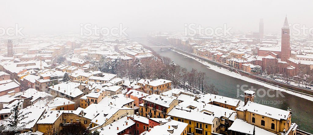 Verona in winter royalty-free stock photo