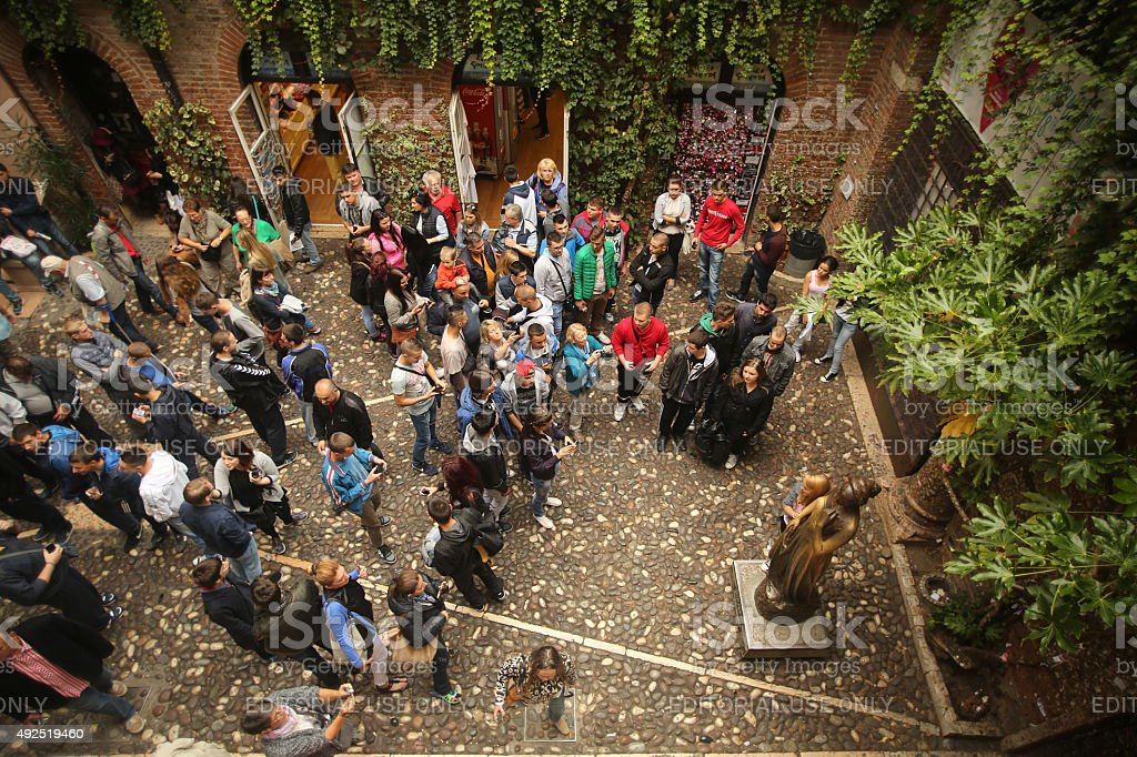 Verona, Juliets House stock photo