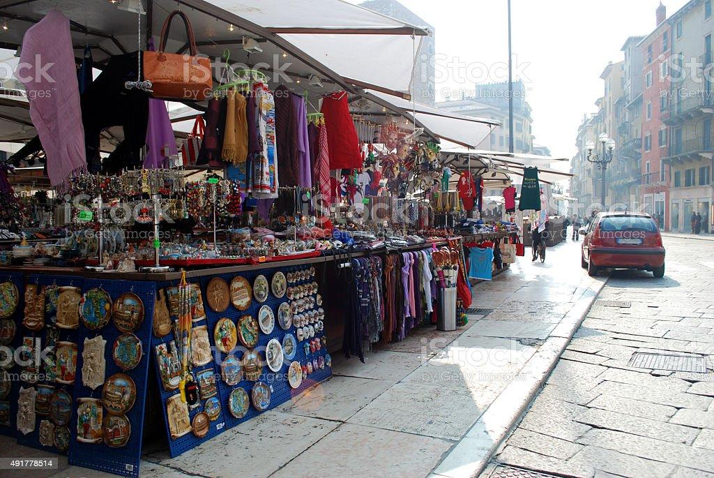 Verona market stock photo