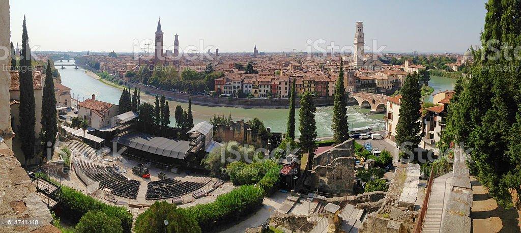 Verona panorama stock photo