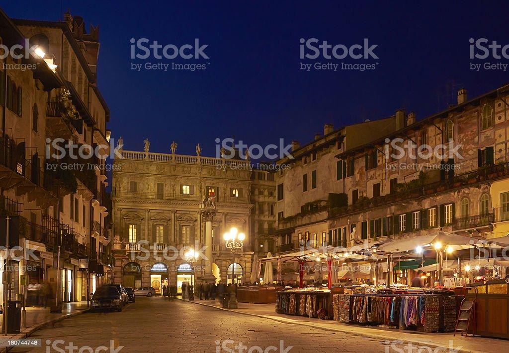 Verona, Piazza dei Signori. stock photo
