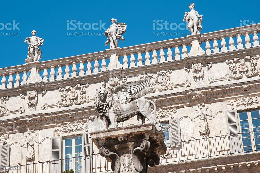 Verona - Piazza delle Erbe stock photo