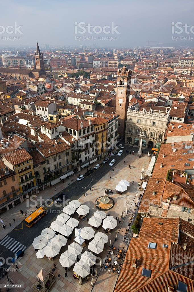 Verona Piazza from Above royalty-free stock photo