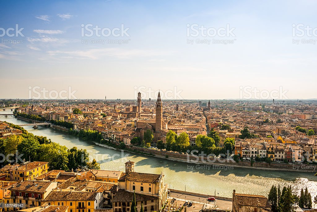Verona Skyline stock photo