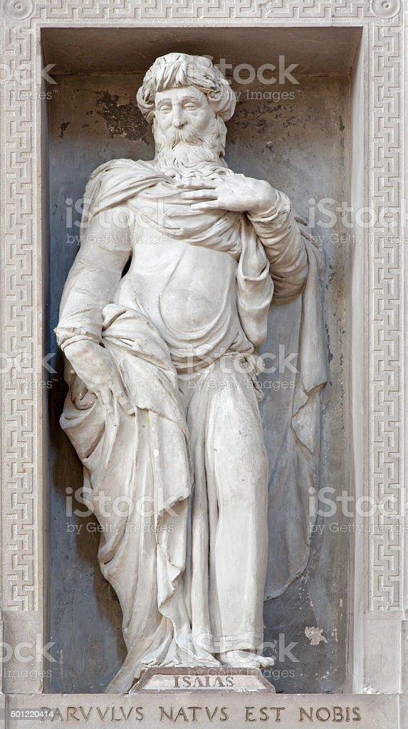 Verona - Statue of prophet Isaiah in San Bernardino church stock photo