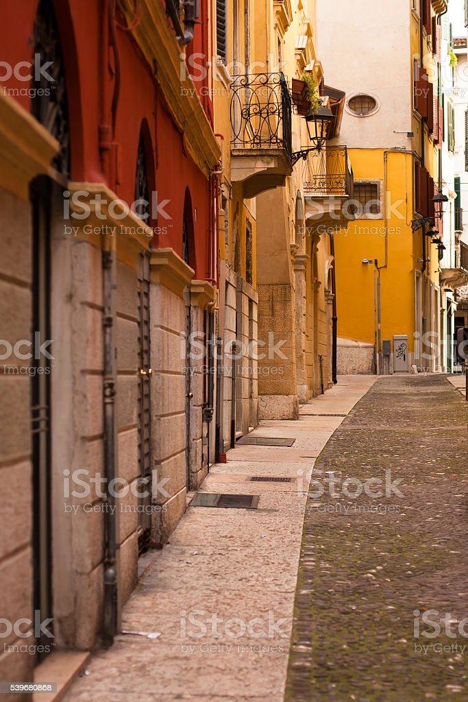 verona street stock photo