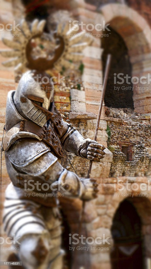 Verona - Tilt-shift photography of warrior royalty-free stock photo