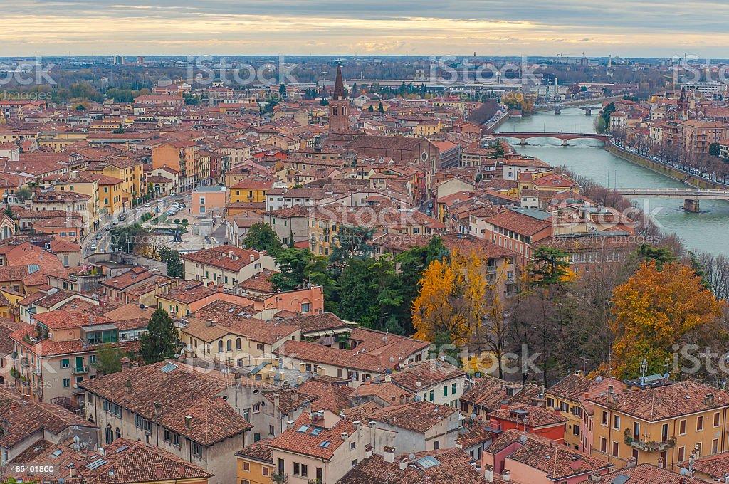 Verona view, Italy. stock photo