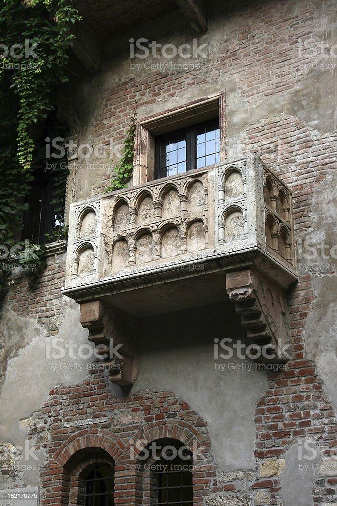 Verona.Juliet's balcony. royalty-free stock photo