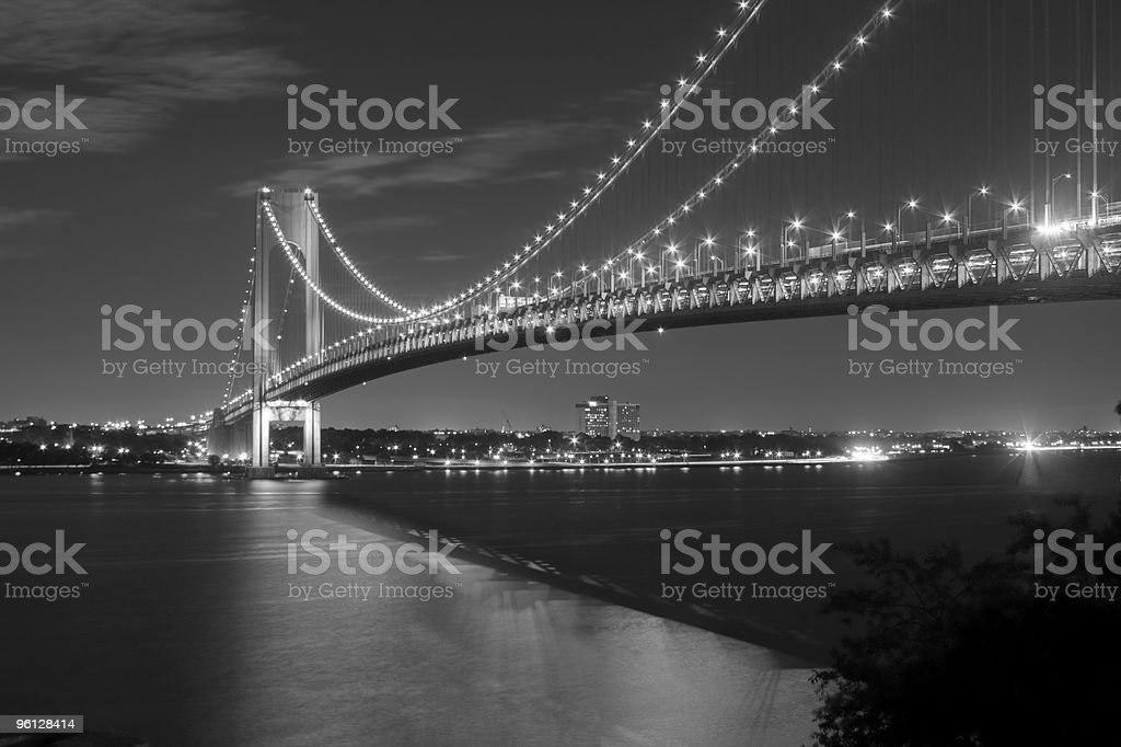 Verrazano Bridge at Night stock photo