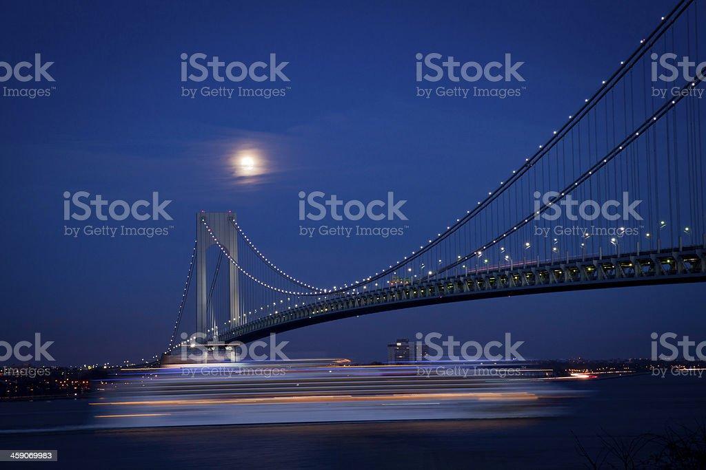 Verrazano Narrows Bridge in New York City stock photo