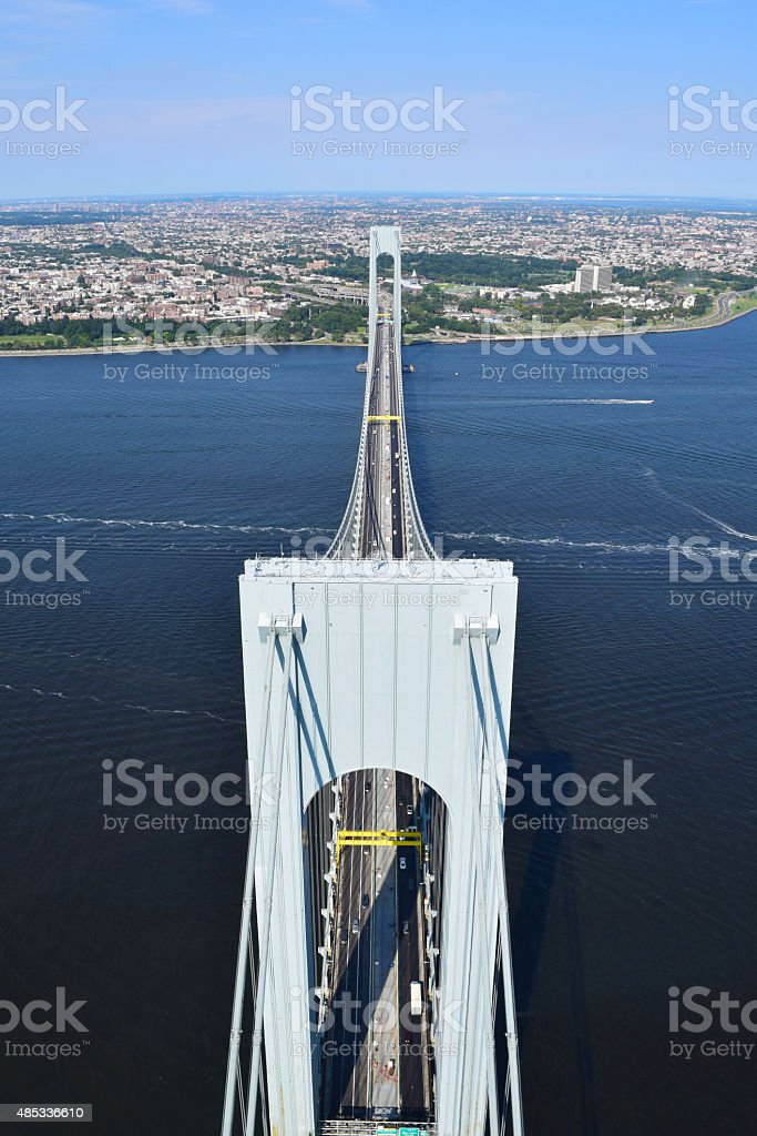 Verrazano Narrows Bridge, New York City stock photo