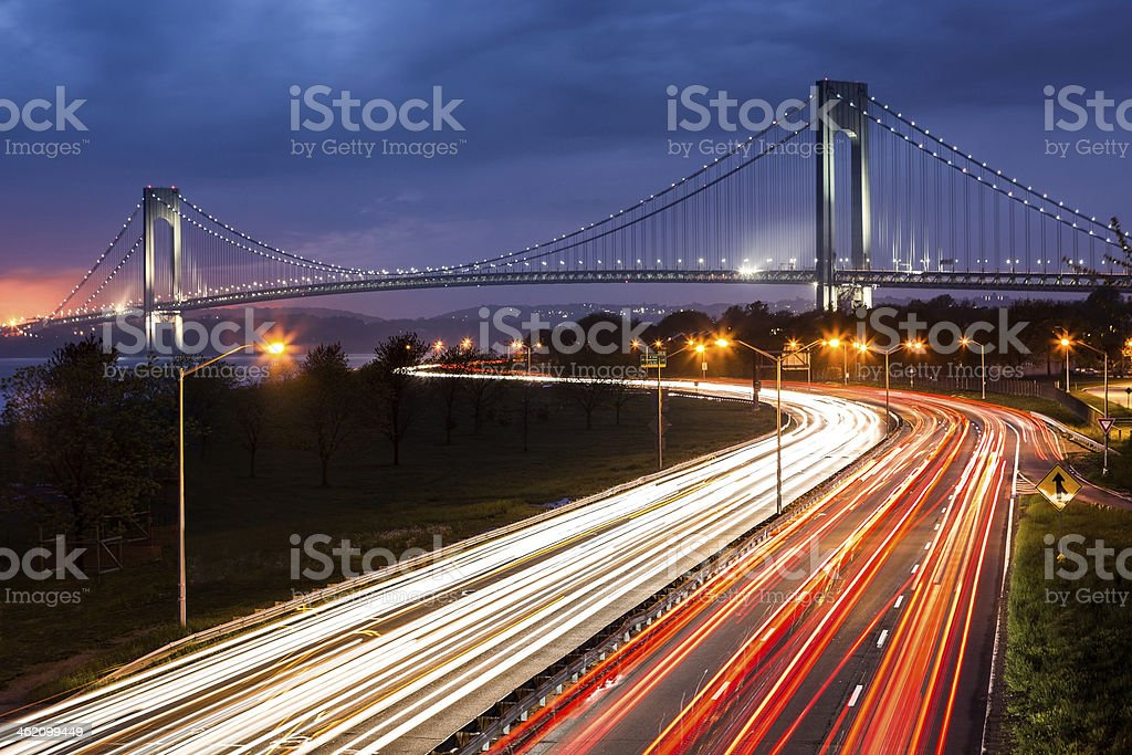 Verrazano Narrows Bridge stock photo
