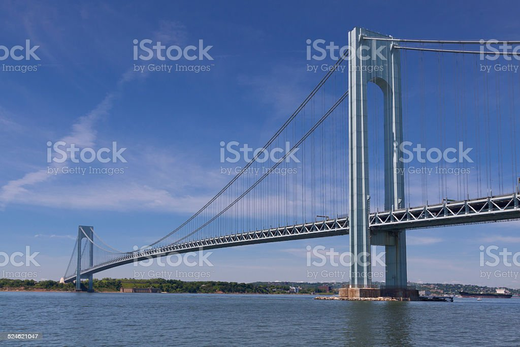 Verrazano-Narrows Bridge in the morning, New York stock photo