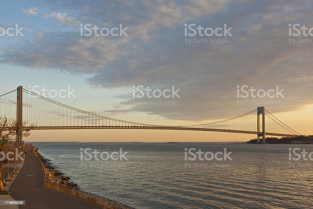 Verrazano-Narrows Bridge, New York royalty-free stock photo