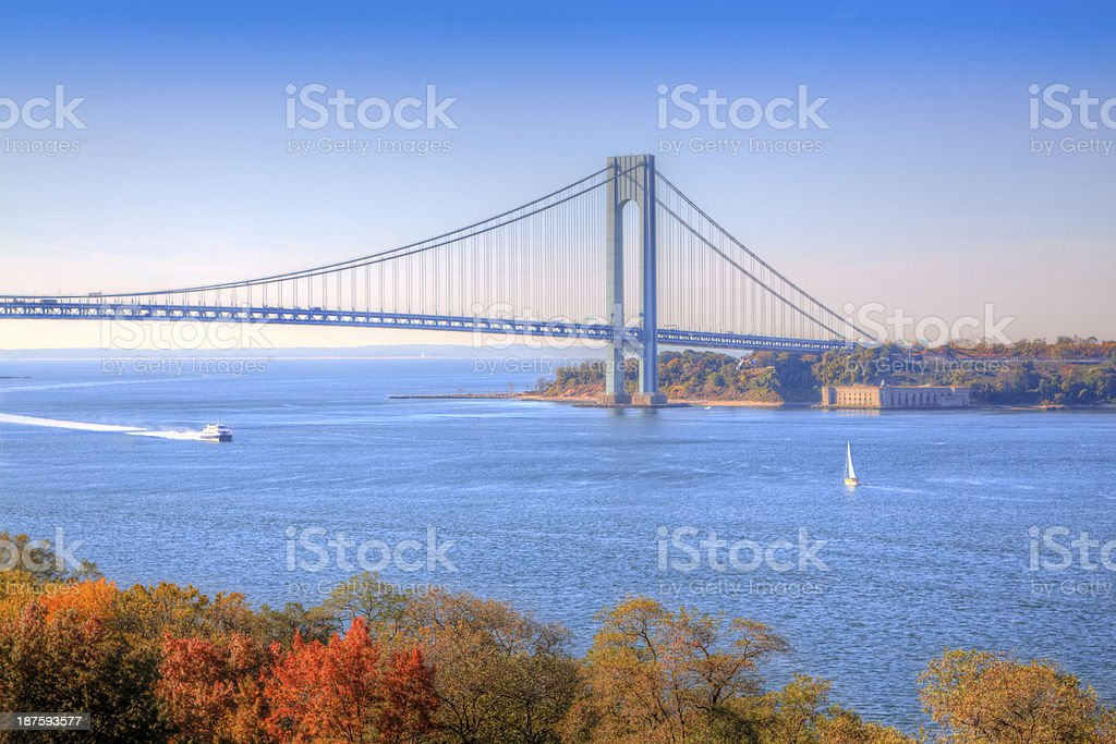 Verrazano-Narrows Bridge, New York stock photo