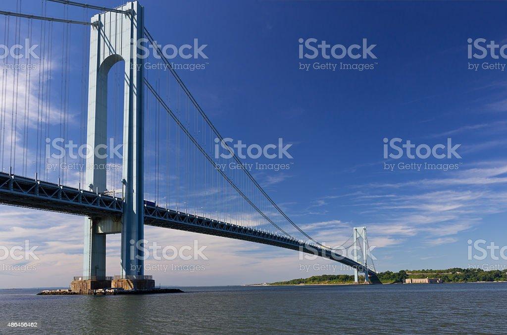 Verrazano-Narrows Bridge on a summer morning, New York City. stock photo
