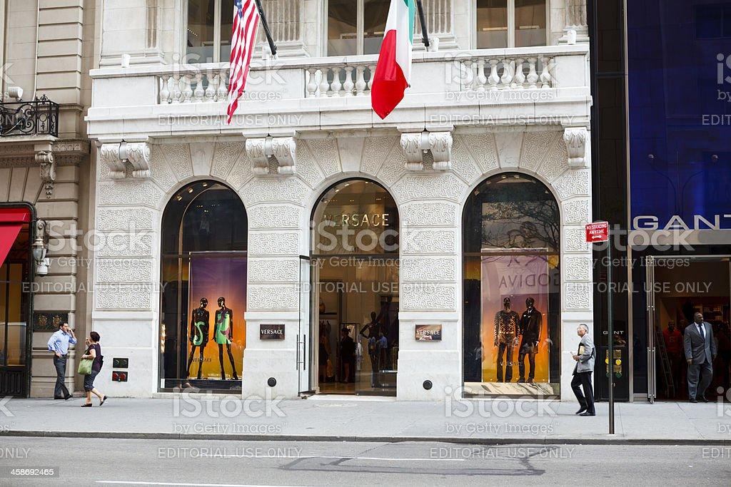 Versace 5th Avenue Manhattan stock photo