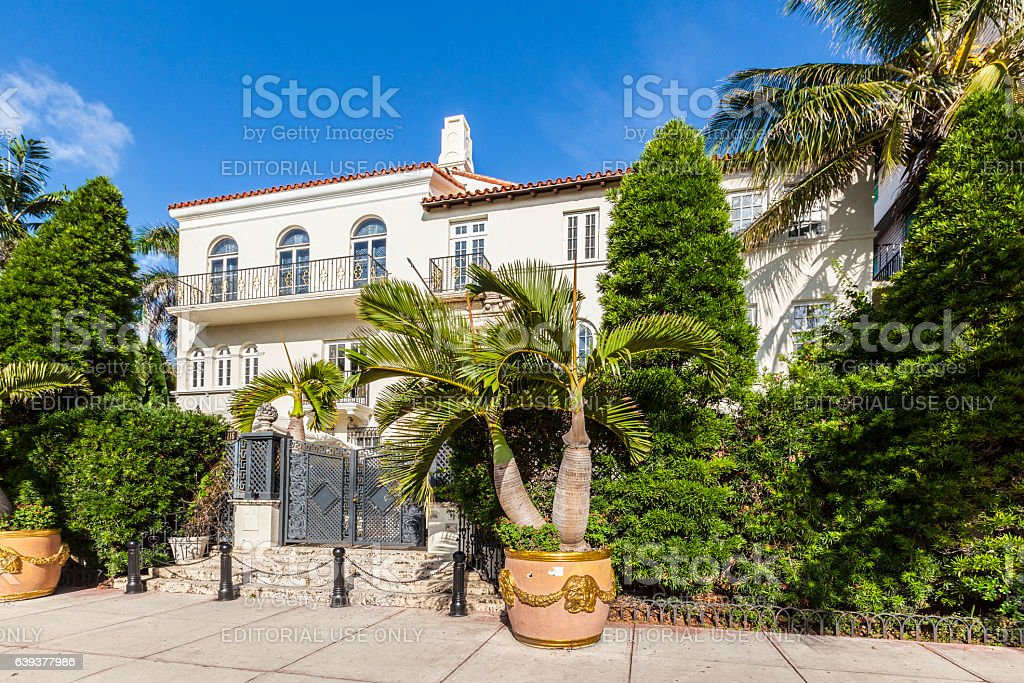 Versace mansion at Ocean Drive stock photo