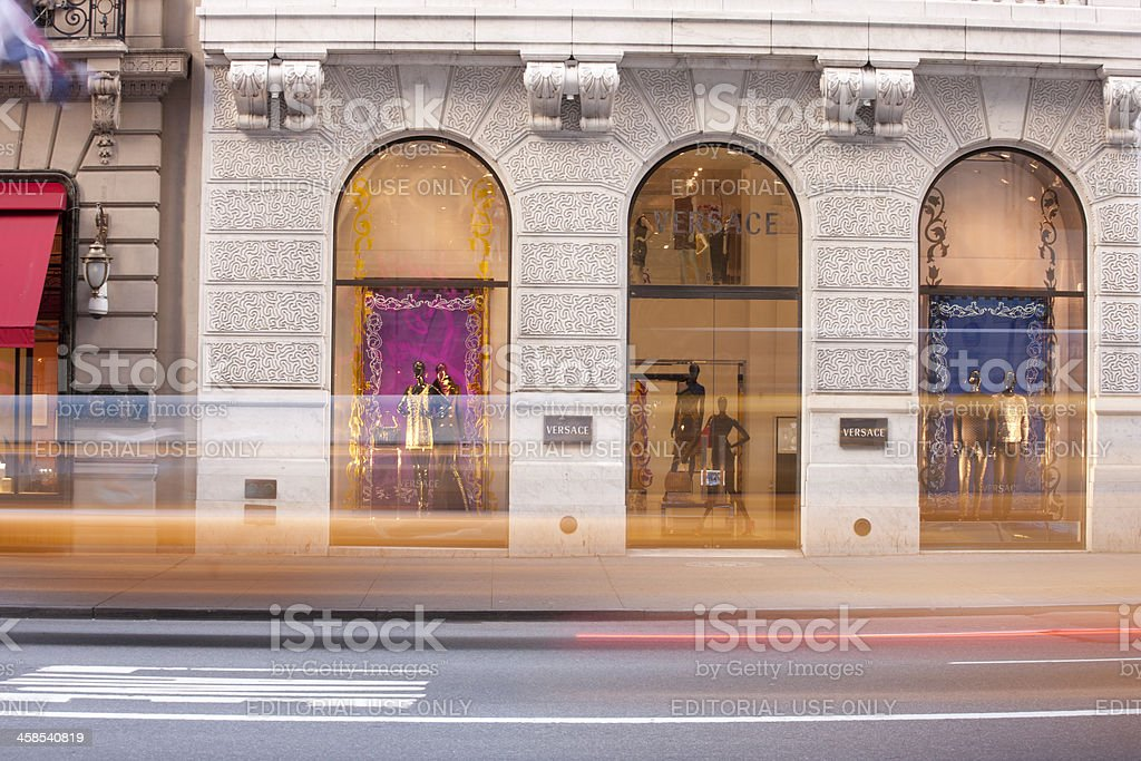 Versace New York City stock photo
