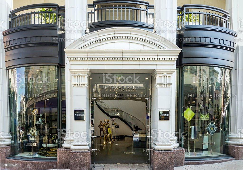 Versace Retail Store Exterior stock photo