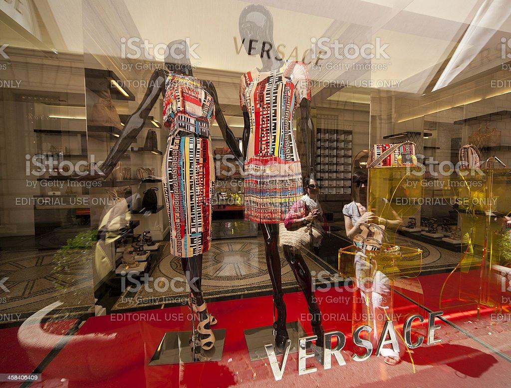 Versace, shop window,  Rome, Italy stock photo