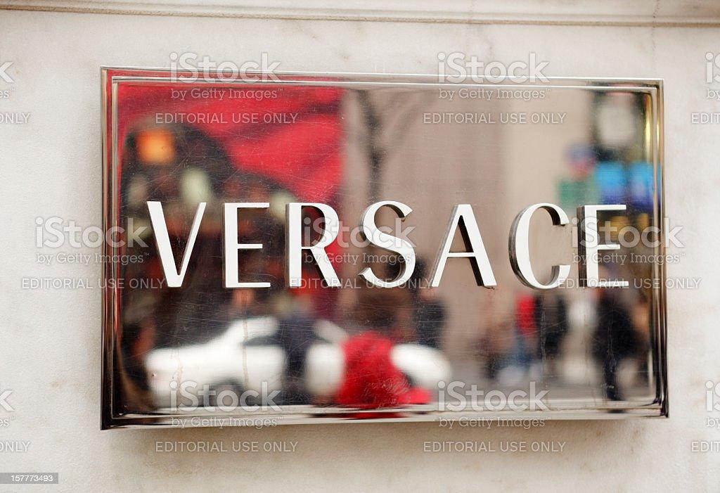 Versace Sign stock photo