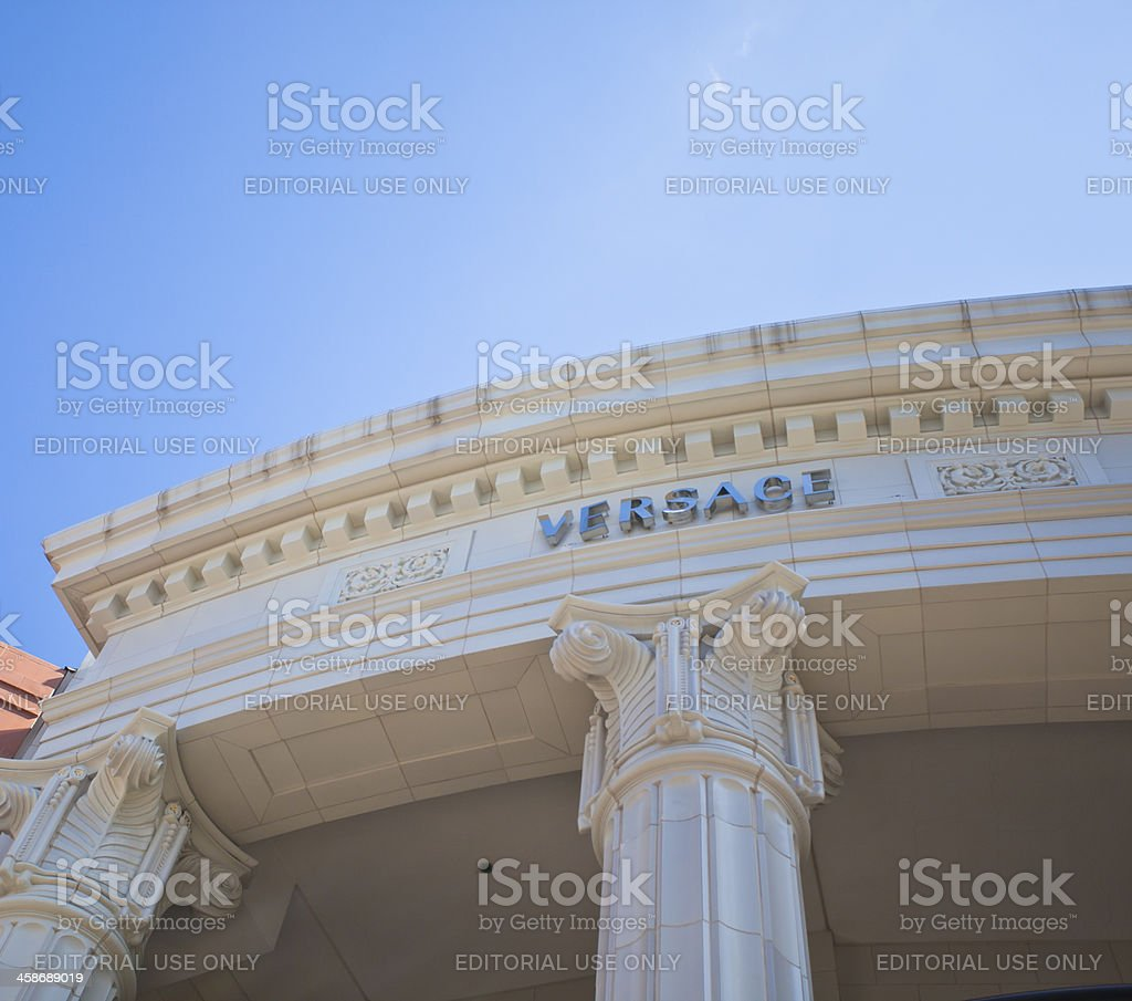 Versace Store Front stock photo