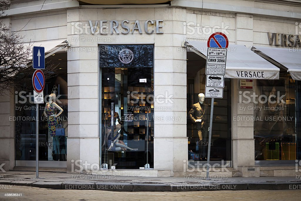 Versace store in downtown Sofia stock photo