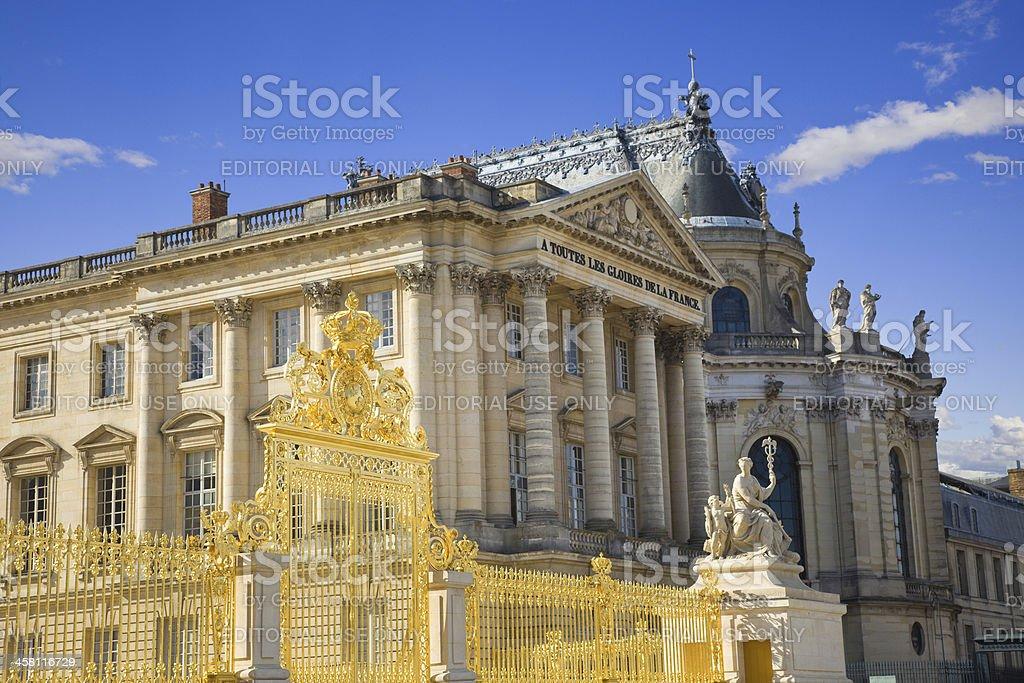 Versailles Chateau facade stock photo