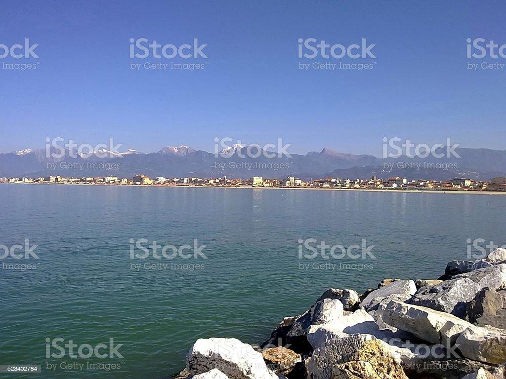 Versilia coast stock photo