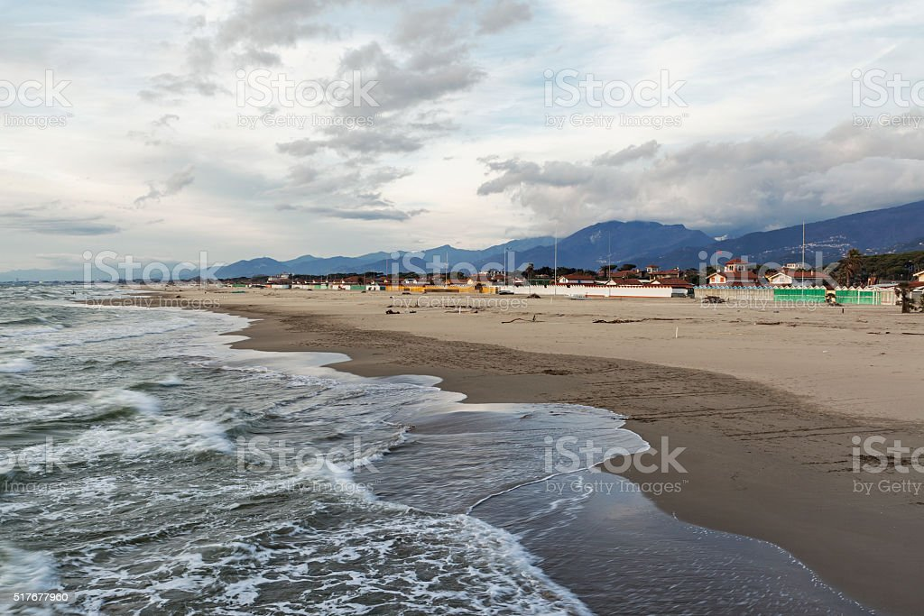 versilia sea view stock photo