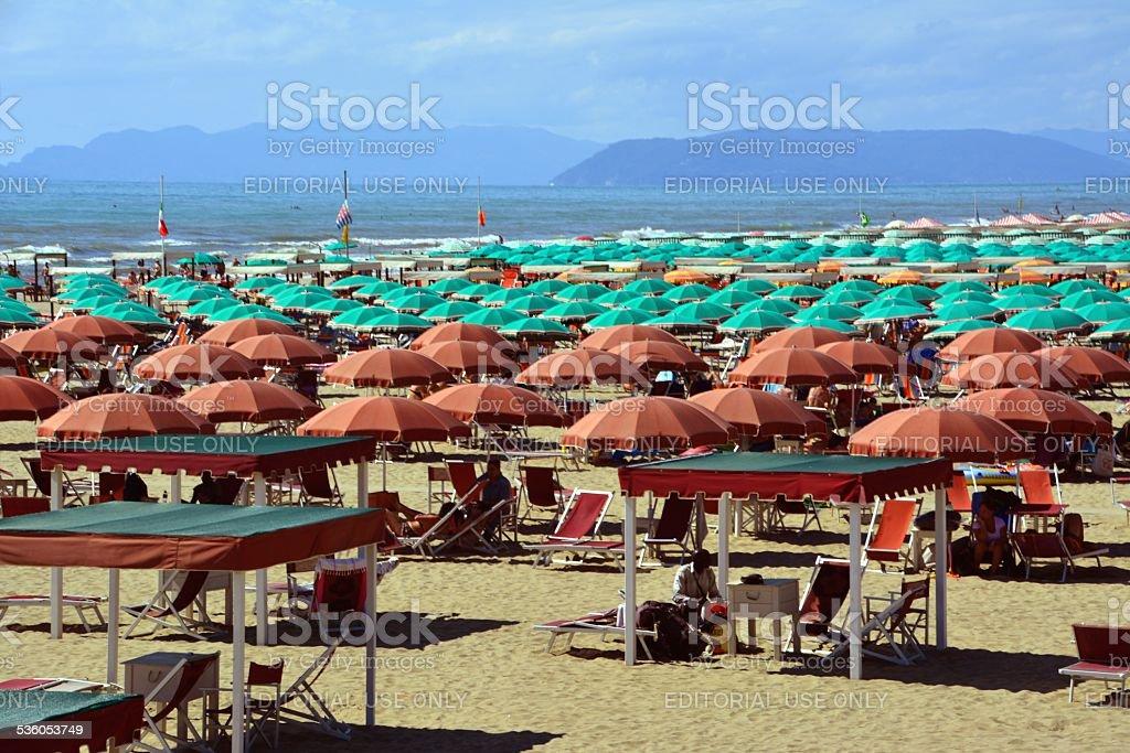 Versilia's beach resort, Tuscany Italy stock photo