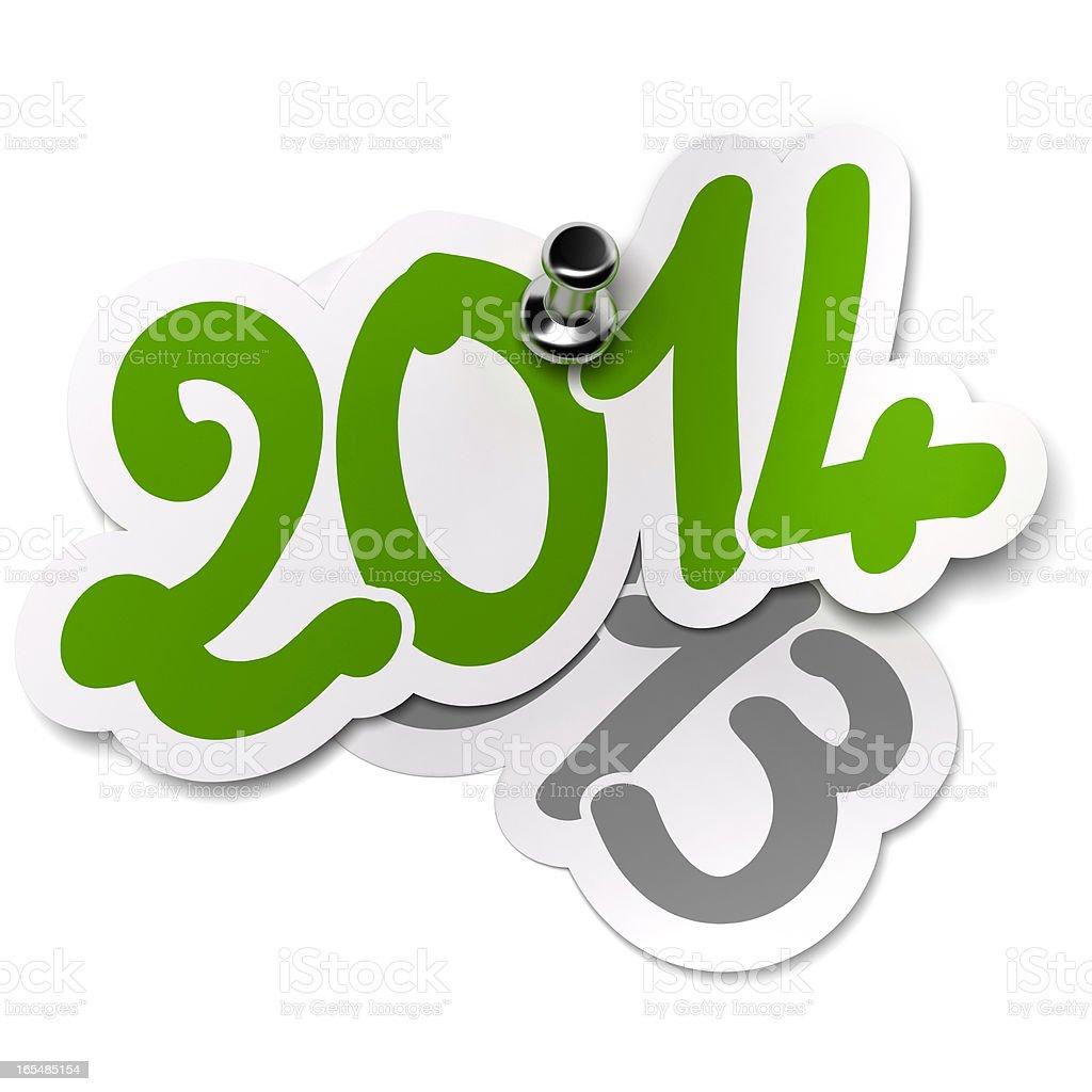 2014 Versus 2013 Years. Stickers stock photo