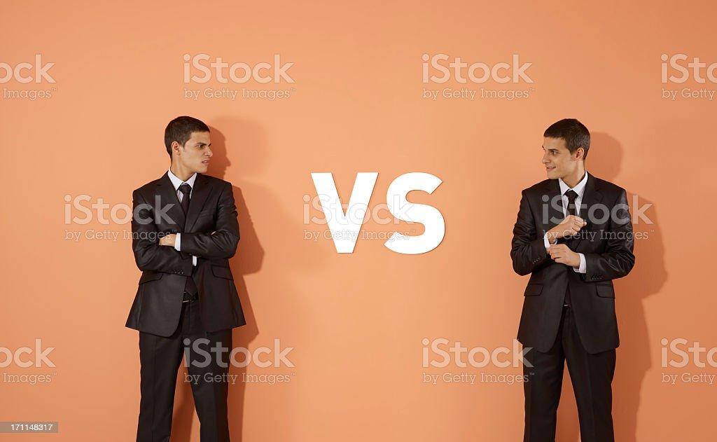 Versus royalty-free stock photo