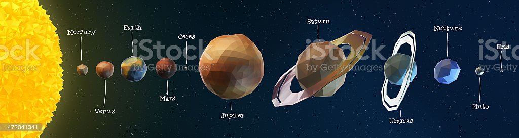 Vertex Sun System stock photo