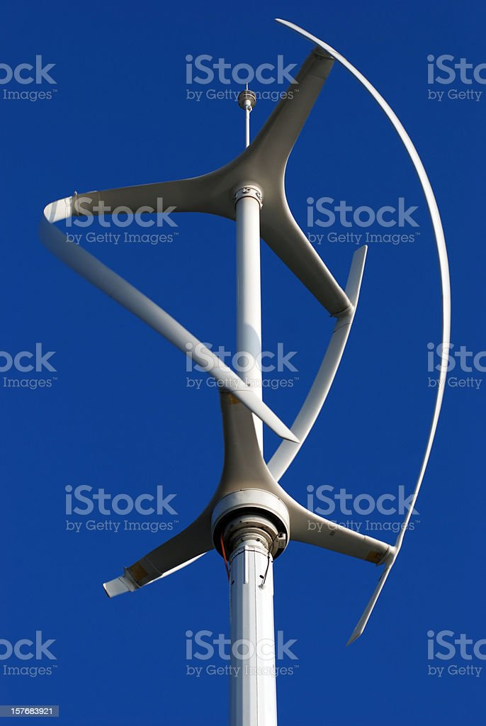 Vertical axis energy wind turbines royalty-free stock photo