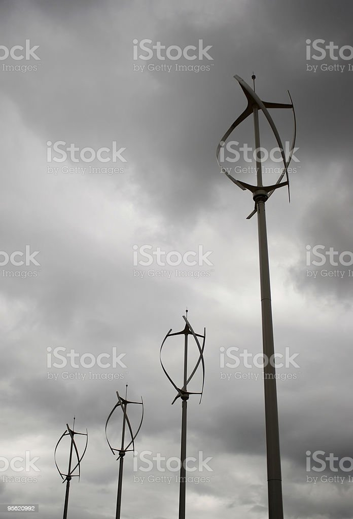 Vertical axis wind energy turbines royalty-free stock photo