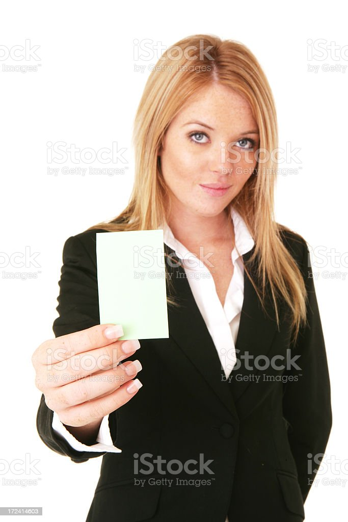 Vertical Business Card royalty-free stock photo