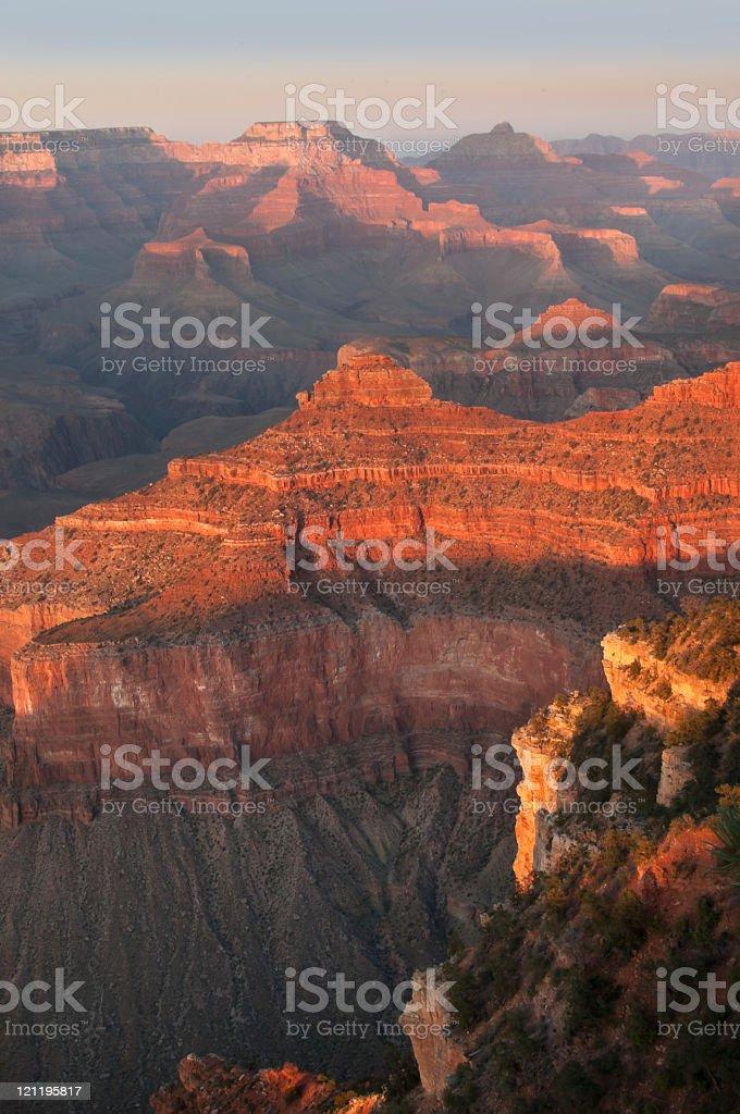 Vertical canyon stock photo