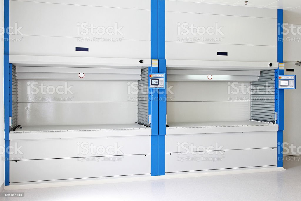 Vertical carousels royalty-free stock photo