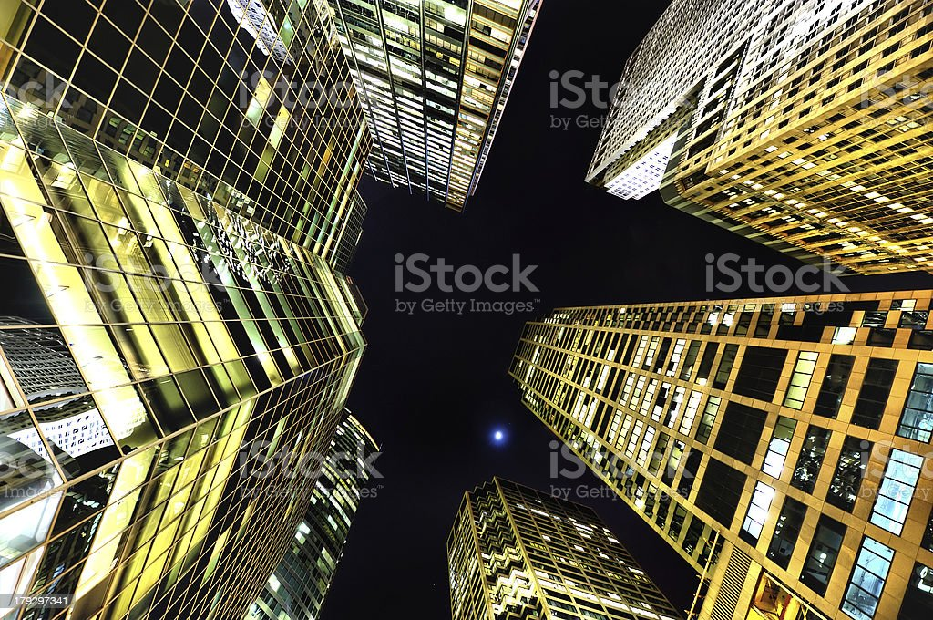 Vertical City View stock photo