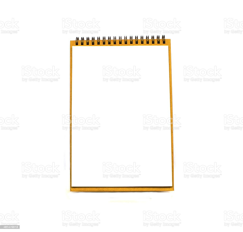 Vertical clipboard with white paper. Isolated on white. royalty-free stock photo