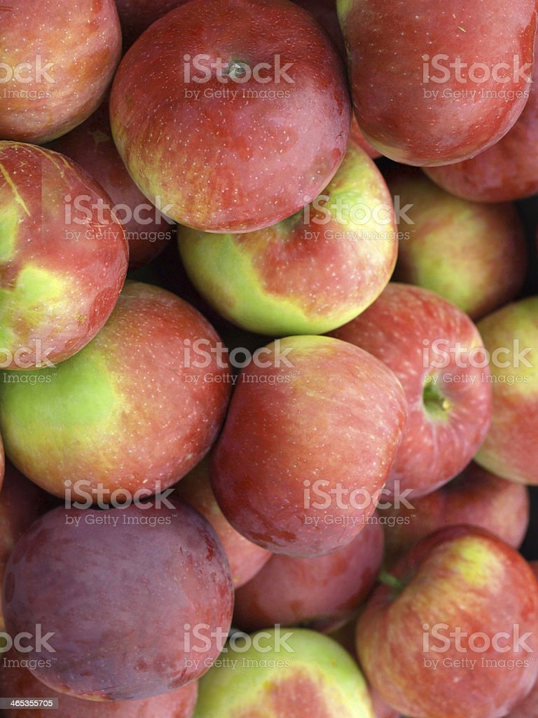 Vertical close up of apples stock photo
