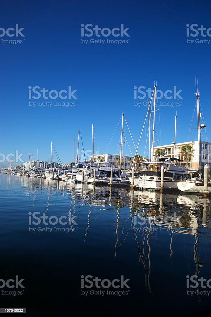 Vertical Cobalt Blue Marina stock photo