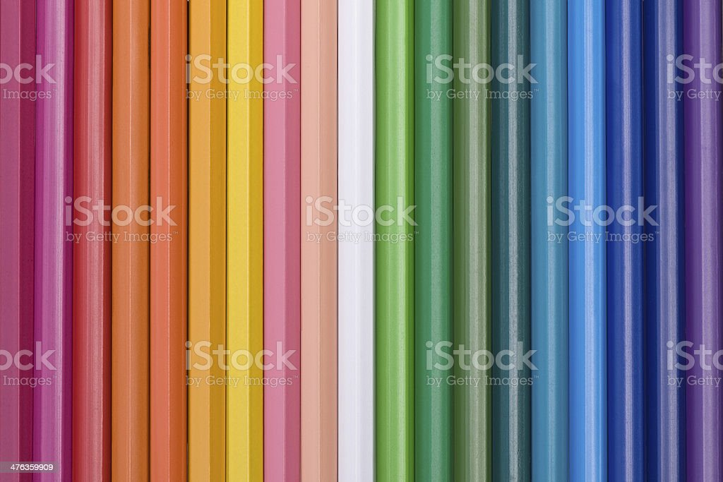 vertical color pencils royalty-free stock photo