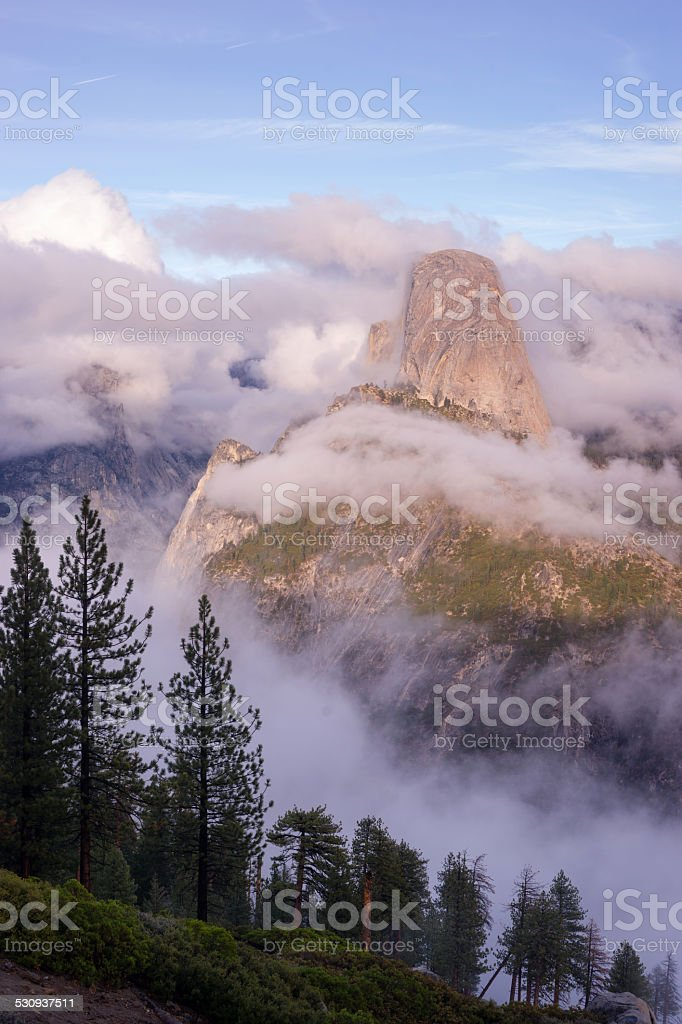 Vertical Composition Half Dome Sierra Nevada Mountains Yosemite stock photo